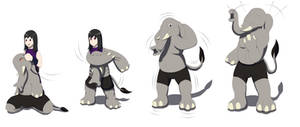 Comission: Elephant Suit TF TG by Avianine