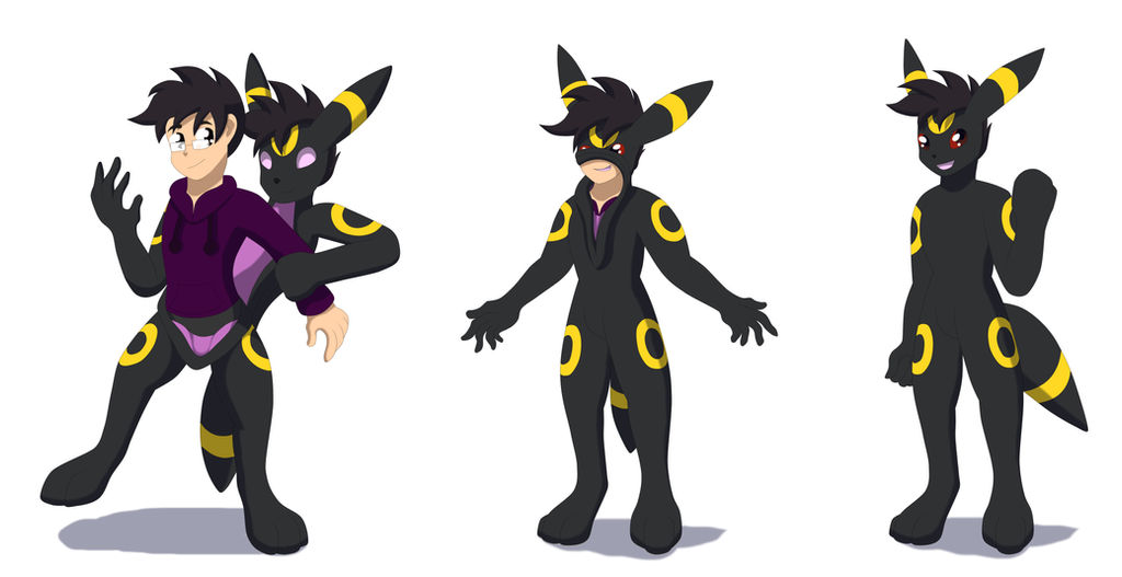 Comission: A new mate (Anthro Umbreon TF TG) by Avianine