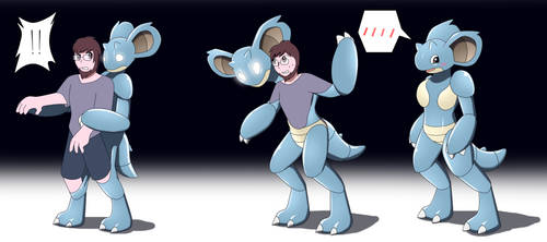 Nidoqueen Living Suit TF TG by Avianine