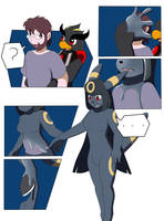 Anthro Umbreon TF TG by Avianine