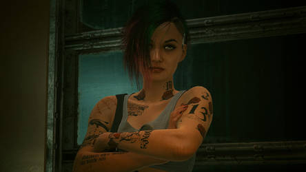 Cyberpunk 2077 - Judy Eye Roll