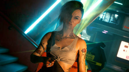 Cyberpunk 2077 - Judy Smoking 5