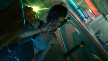 Cyberpunk 2077 - Judy Smoking 6