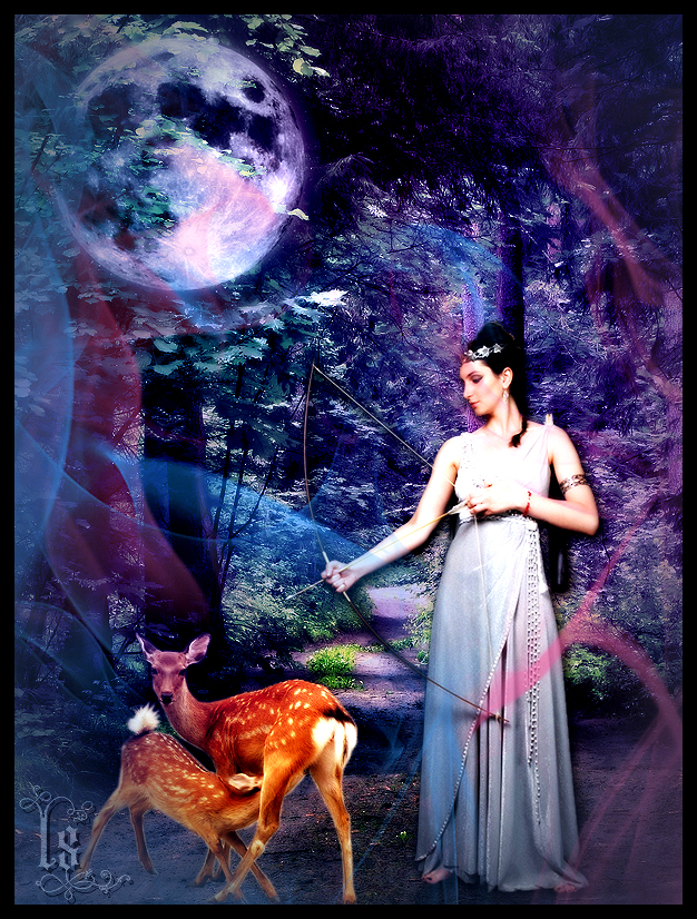 Greek Goddesses: Artemis by empyreus