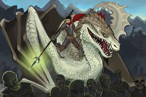 Dragon Rider by Aazure-Dragon