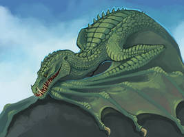 Boar Crocodile Dragon by Aazure-Dragon