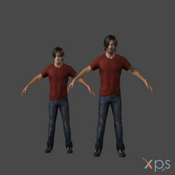 Resident Evil Leon Teen and Adult xps model