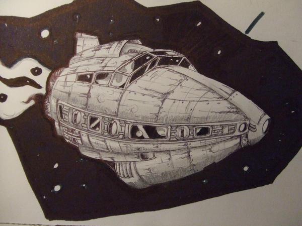 spaceship by croustipote