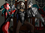 The Cat and The Canary........and a Harley Quinn by Tuffers-Art