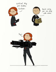 .My gun broke, Coulson. by bababug