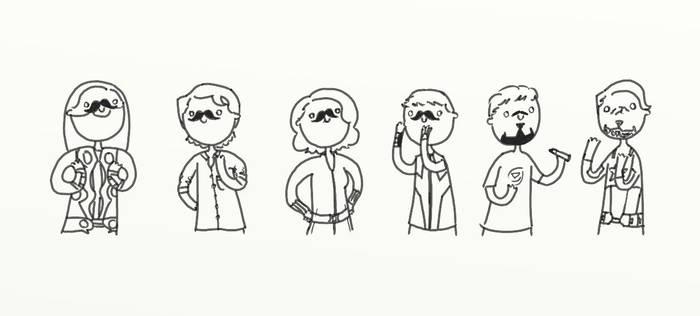 .Movember Vengers. by bababug