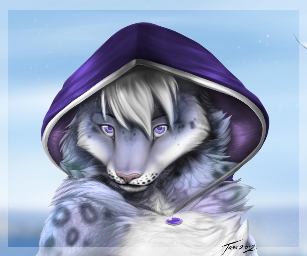 SnowLeopardPortrait by Tassy