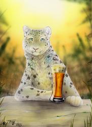 Interesting leopard