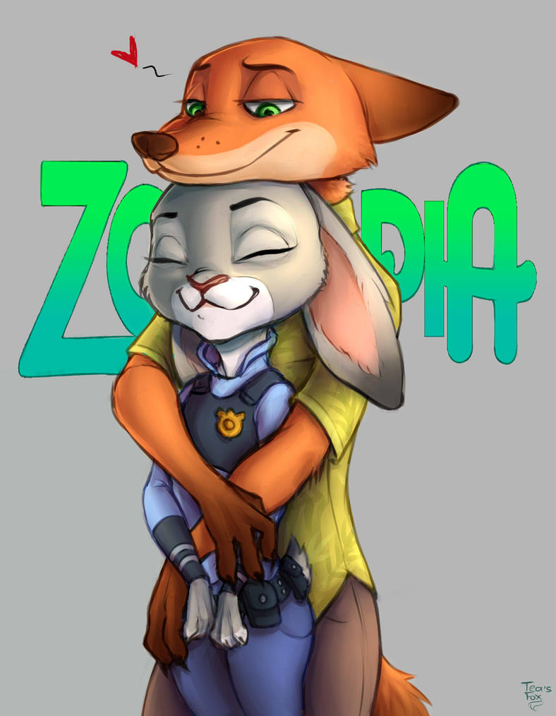 Nick and Judy by TeasFox on DeviantArt