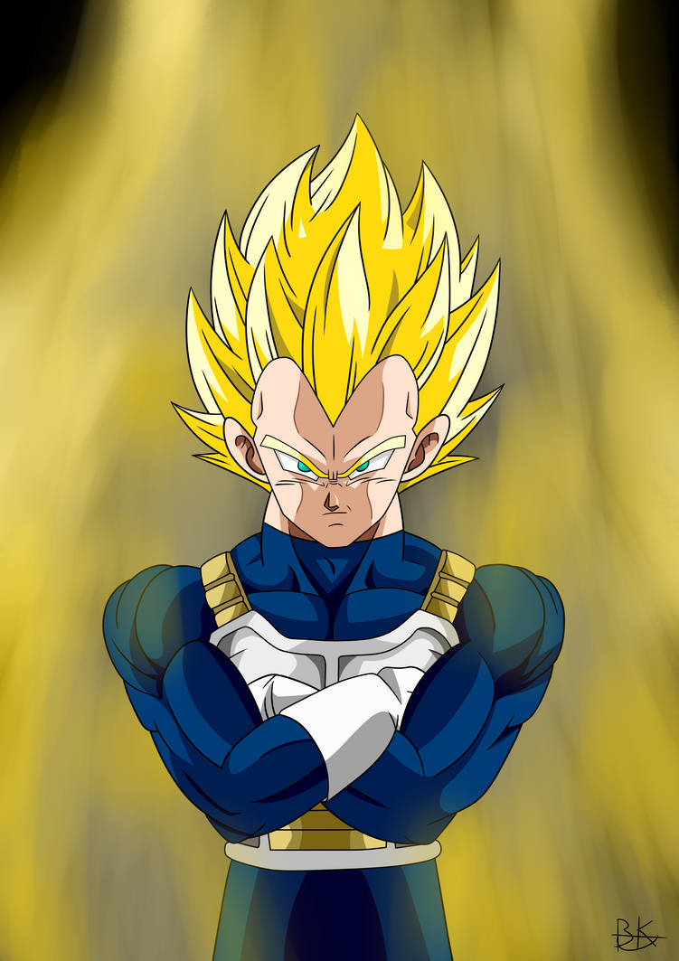 Super Saiyan Vegeta By Deriavis On Deviantart