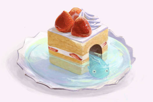 The resident of a cake
