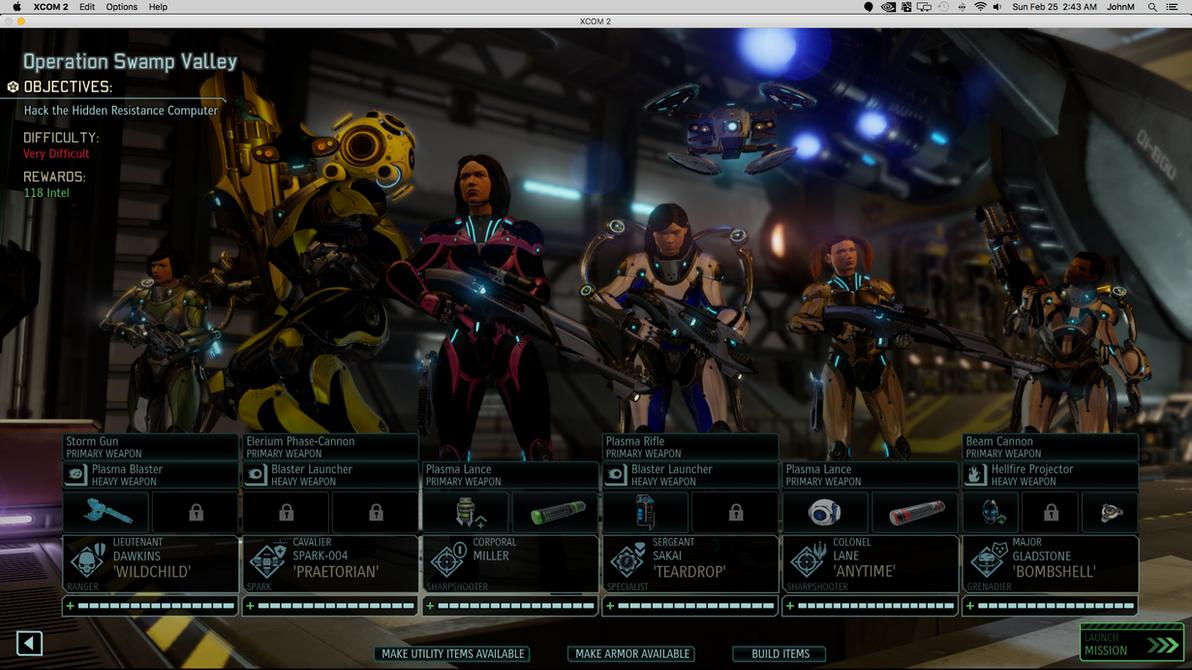 XCOM2 Screenshot:  Racks View gals by NICELabs