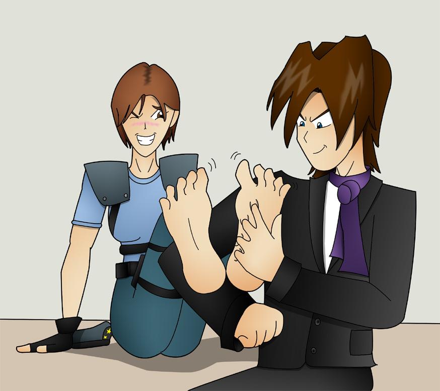 Tickling Jill Valentine by Kenzoe64