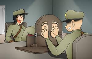 Zod tickling the helper by Kenzoe64