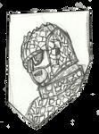 Ice warrior head sketch by Kenzoe64