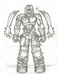 Darksiders 2 Death Sketch by Kenzoe64