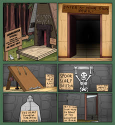 Gravity Falls: Summerween Dungeon Page 1 by Kenzoe64
