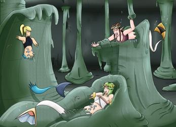 Fishy Fun with Samus, Palutena, and Zelda by Kenzoe64