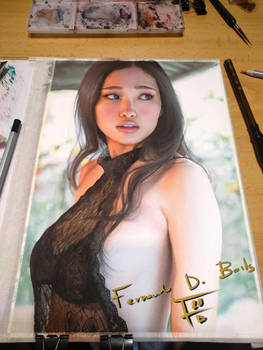 watercolor painting Reon Kadena 185
