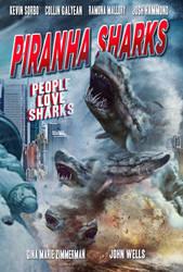 Piranha Sharks Poster 2 by nato2469