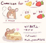 (CLOSED) Commision for cheese or fraises! by MallPizza