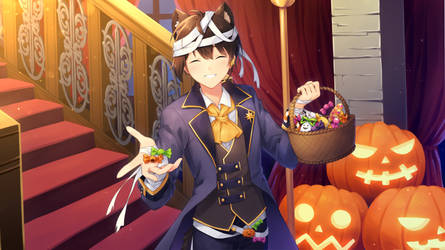 Halloween Akihiko by hikariin25