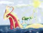 Surfing Milotic for Bustawolf