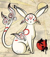 Okami Style Espeon by Mnemeth17