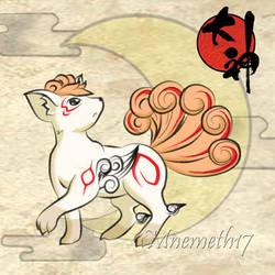 Okami Style Vulpix by Mnemeth17