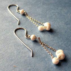 White Queen Earrings