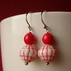 Red Pebbles Earrings