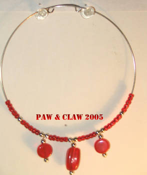 Beaded Red Glass Necklace