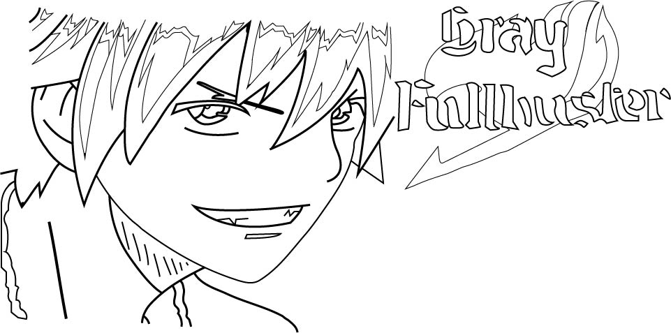 Fairy Tail Gray Fullbuster Outline By Cyndaquit