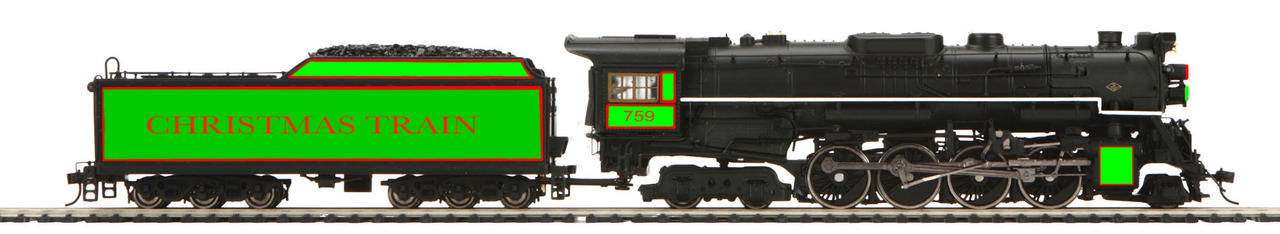 Ho Christmas Train.Custom Ho Scale Nkp Christmas Train 759 Fanmade By