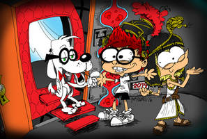 Mr.Peabody y Sherman (y Penny) by ANDREU-T