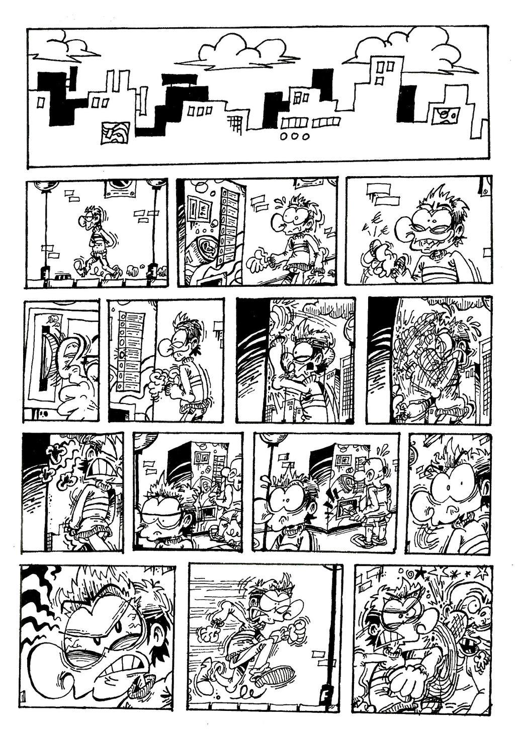 Comic Book Page - European Edition. by ANDREU-T