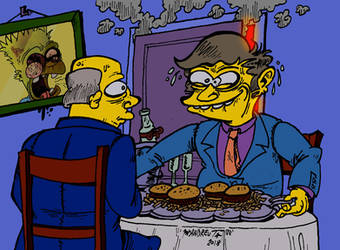 (Doodle) Steamed Hams, but it's a creepy drawing