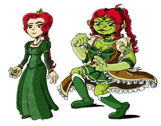 Shrekku - Fiona Character design