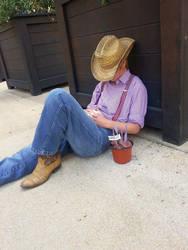 Resting on the farm by kenshin-chan64