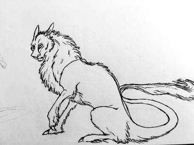 Beast sketch by Jalieu