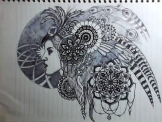 mandala sketch084 by Beastopop