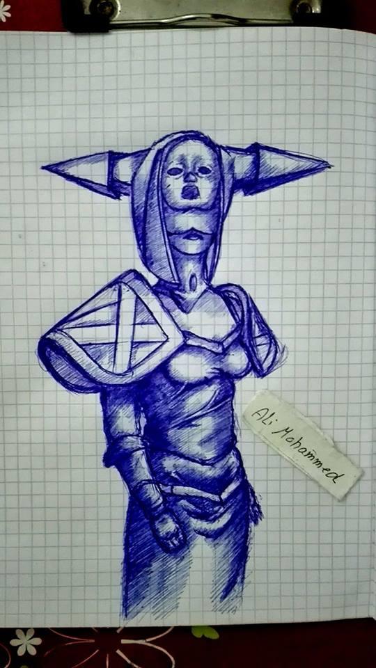 lissandra cosplay sketch by Beastopop