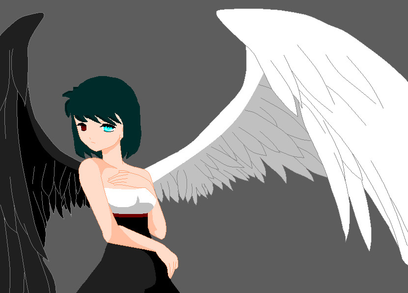Anime Angel Girl By Dudikitty