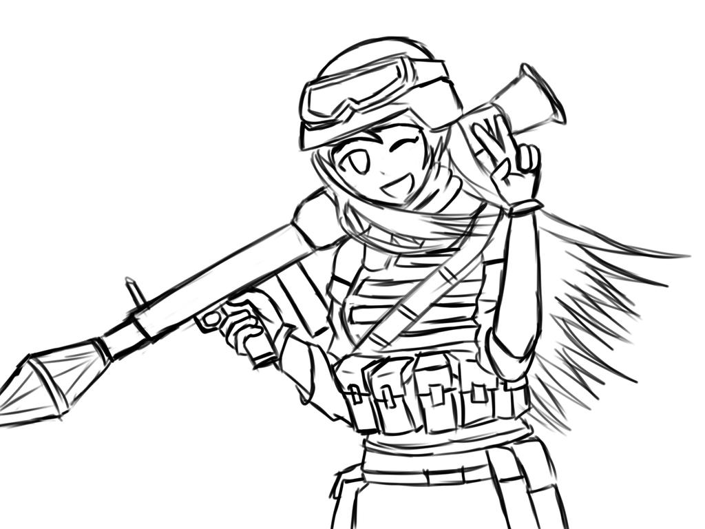 Uncategorized How To Draw A Army Soldier female anime anti tank soldierremake sketch by aditthestig on aditthestig