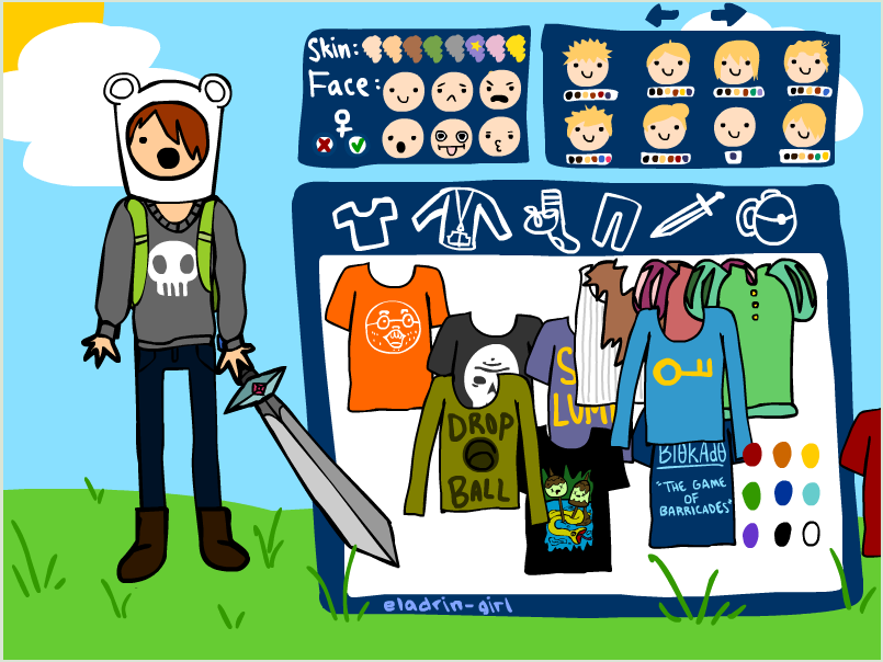 Adventure Time Character Creator Game - Play online at Y8.com
